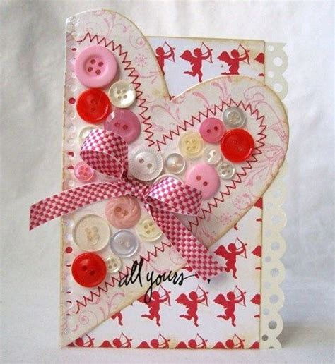 Creative Handmade Day Cards - adorable valentines day handmade card ideas pink lover