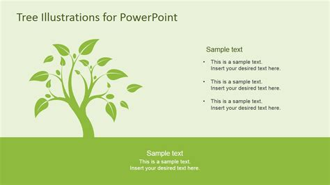 powerpoint tree template tree illustration diagrams for powerpoint slidemodel