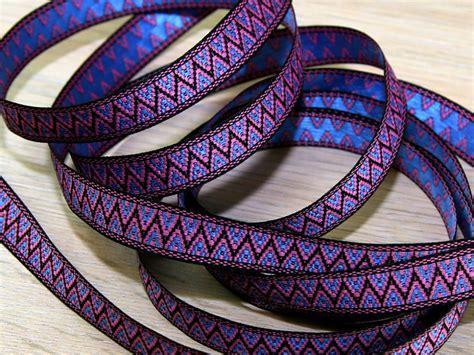 zig zag braid pattern for sew in woven zig zag design jacquard ribbon braid trimming per