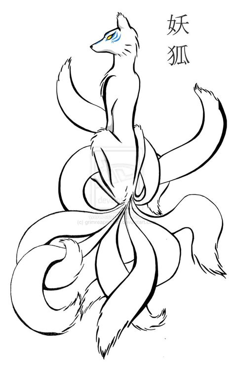 ninetails lines by sulfura on deviantart 10 best images about ninetails on pinterest happy