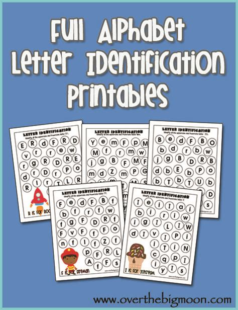 Research Based Letter Identification Strategies Printable Letter Recognition Worksheets The Big Moon Alphabet Letter Identification