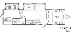 Crossroads Rv Floor Plans by 2007 Crossroads Rv Zinger Zt32sb Floorplan