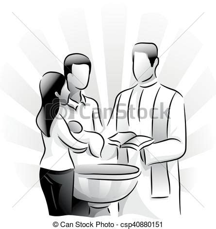 battesimo clipart clipart vettoriali di battesimo sacramento santo black