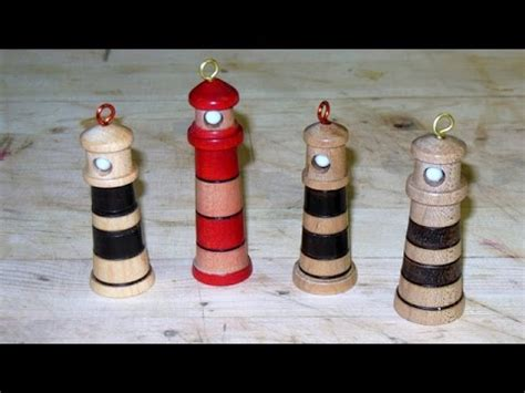 woodturning christmas decorations turning a lighthouse tree ornament