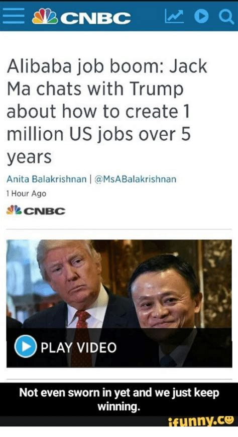 alibaba career alibaba job boom jack ma chats with trump about how to