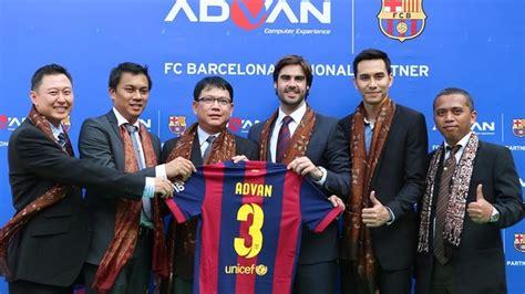 Advan Barcelona advan new fc barcelona sponsor in indonesia fc barcelona