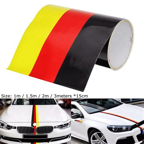audi germany flag german germany flag stripe sticker car hood body decal for