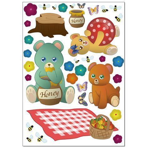 Wandtattoo Kinderzimmer Teddy by Wandsticker Set A4 Teddyb 228 Ren Picknick