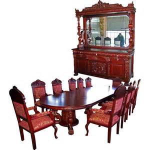 mahogany dining room set 7203 r j horner 15 pc winged griffin carved mahogany