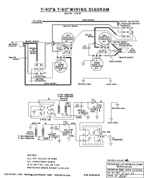 peavey b guitar wiring diagram get free image about