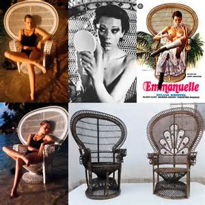 Brown Leather Armchairs Pair Of Iconic 1970s Emmanuelle Sylvia Kristel Wicker