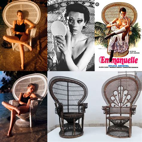 Iconic Armchairs Pair Of Iconic 1970s Emmanuelle Sylvia Kristel Wicker