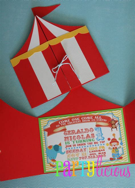 Circus Invitation Template circus invitations on carnival invitations circus birthday invitations and carnival