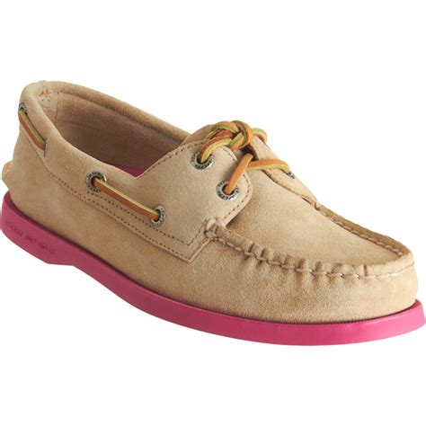 classic shoes sperry top sider classic boat shoes in pink lyst