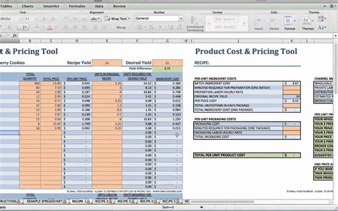 Food Product Cost Pricing Tutorial Youtube Software Pricing Template