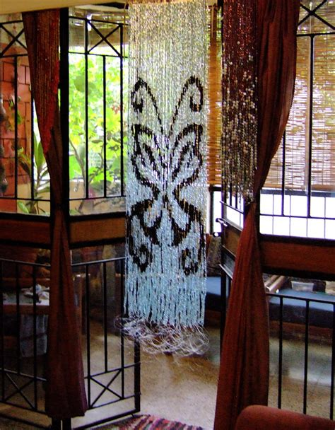 butterfly beaded curtain black white butterfly bead curtain memories of a