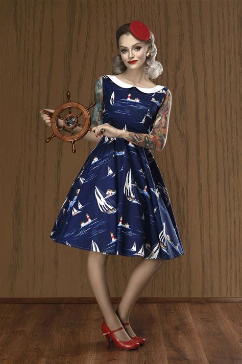 From Pirate To Yacht Club The Nautical Trend Is Evolving by Yacht Club Nautical Dress 50s Style Dresses