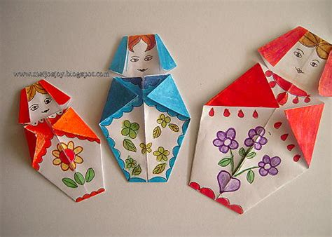 How To Make Origami Doll - meijo s origami babushka matryoshka doll