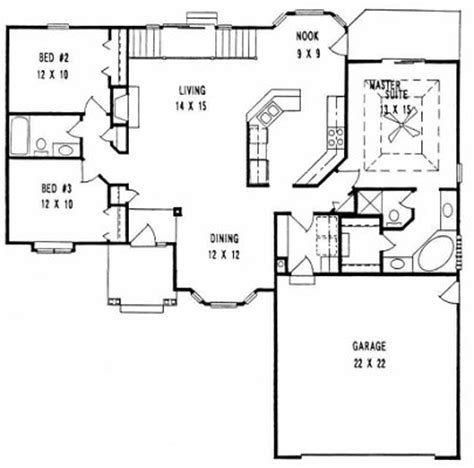 split ranch floor plans plan 1533 3 split bedroom ranch w formal dining and stair landing exit
