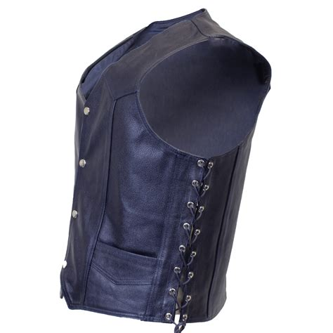 Blue Vest blue leather vest quality product for less