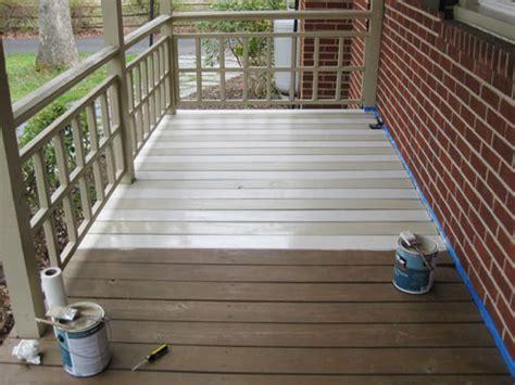 paint  wood deck  front porch   subtle