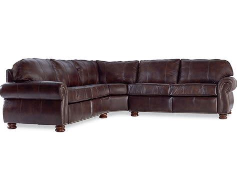 thomasville benjamin leather sectional benjamin sectional leather thomasville furniture