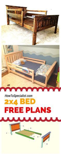 farmhouse bed plans howtospecialist how to build step farmhouse toddler bed do it yourself home projects from