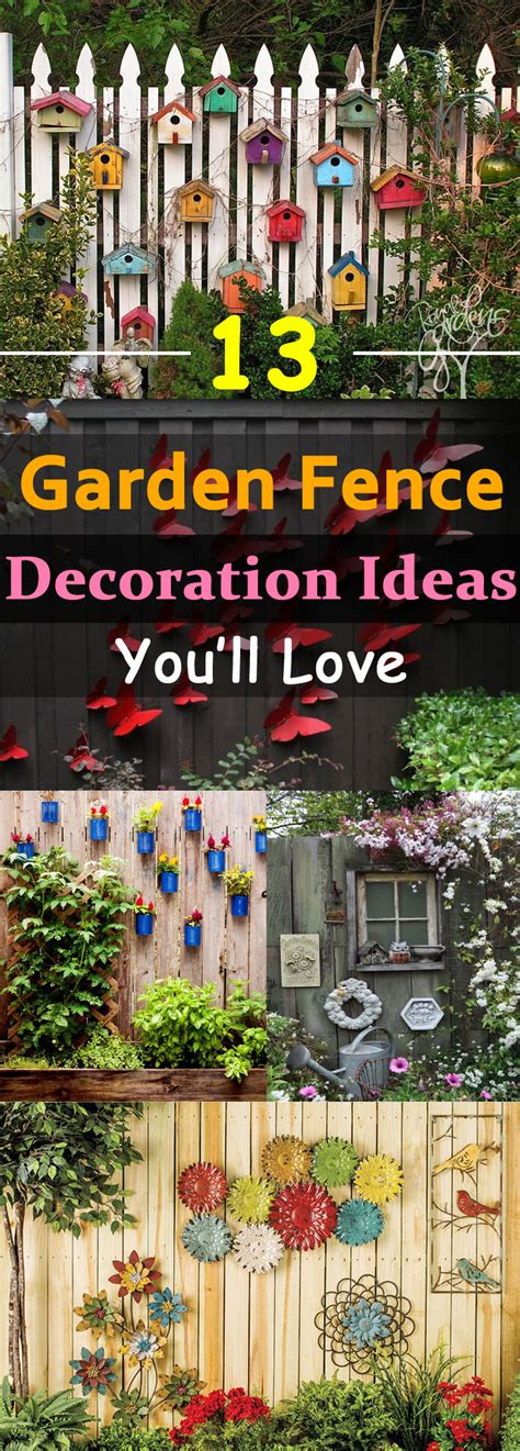garden decorations ideas 13 garden fence decoration ideas to follow balcony
