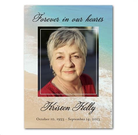 memorial card templates 16 obituary card templates free printable word excel