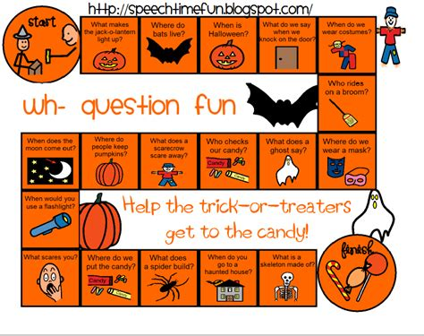 halloween themed quiz names halloween wh board game freebie