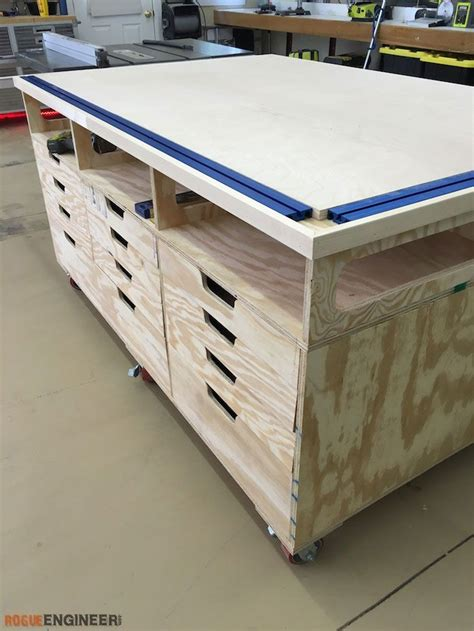 rolling work bench plans ultimate workstation free woodworking and rogues