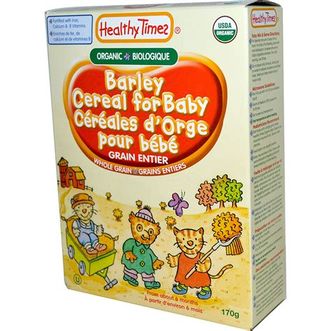 whole grains for baby healthy times barley cereal for baby 8 oz 227 g