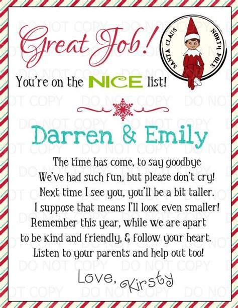 goodbye letter from on the shelf template goodbye letter from on the shelf template 427