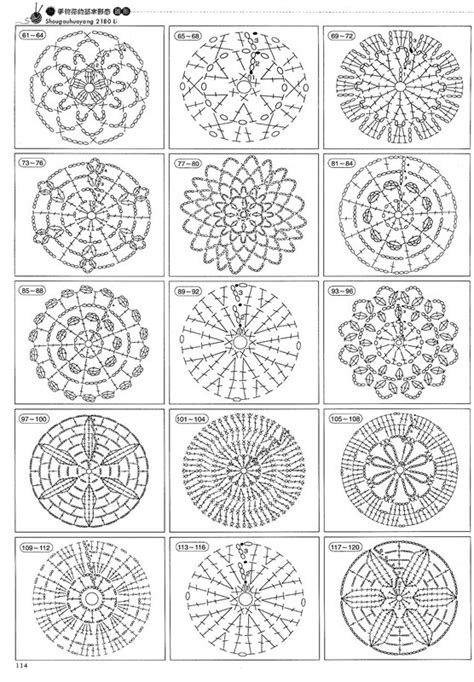 html ng pattern little treasures puff flower motif pattern how to read