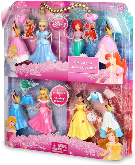 mattel disney princess set of 4 cinderella ariel