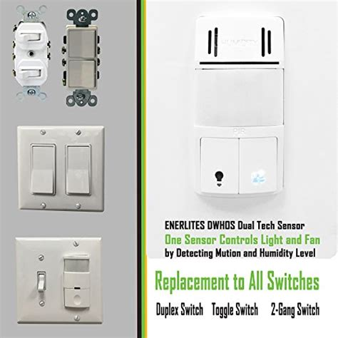 Bathroom Light Sensor Switch Humidity Switch By Enerlites 2 In 1 Humidity Motion Sensor Switch Bathroom Fan Switch