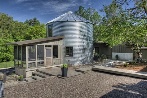grain silo house home design garden architecture