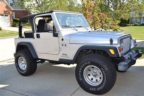 Jeep Wrangler 33 Inch Tires Sell Used 2005 Jeep Wrangler X 6 Speed Silver New 33