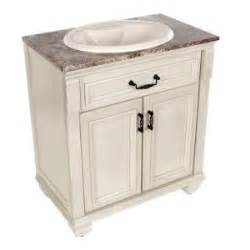 Sink Bathroom Vanity At Home Depot St Paul Classic 30 In Vanity In Antique White With