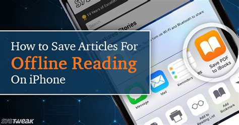 how to read offline how to save articles for offline reading on iphone