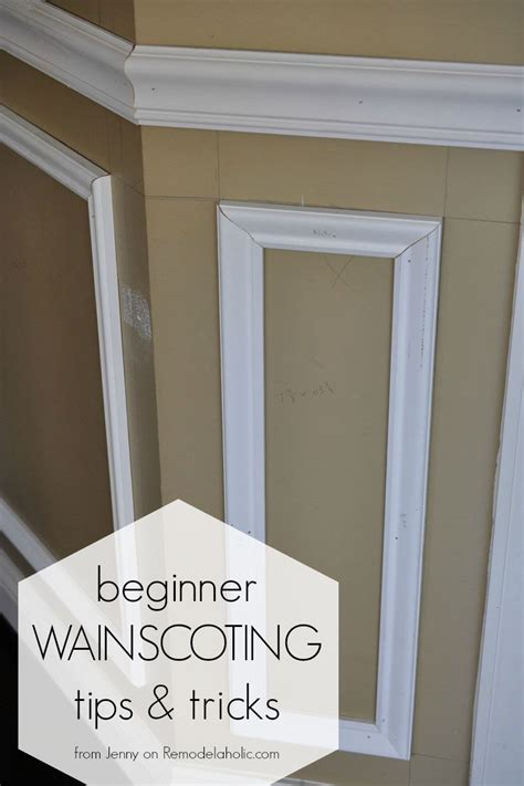 How To Do Wainscoting Boxes Beginner Tips And Tricks For Installing Trim Moldings