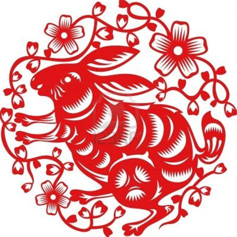 traditional cut year of rabbit made by traditional paper