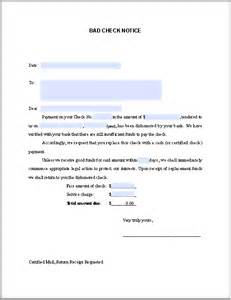 Customer Cheque Bounced Letter Bad Check Notice Sle Free Fillable Pdf Forms