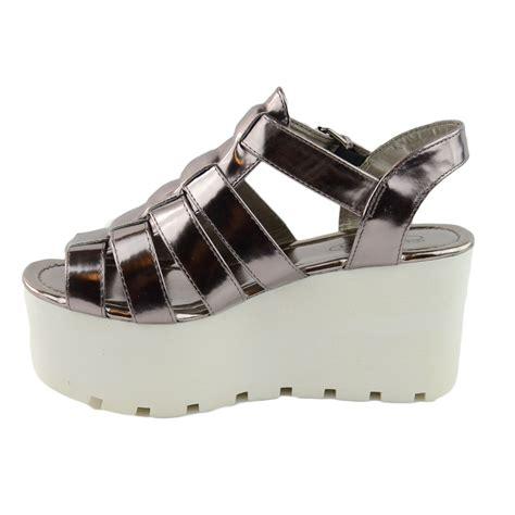 chunky gladiator sandals womens chunky sole gladiator summer wedges platform