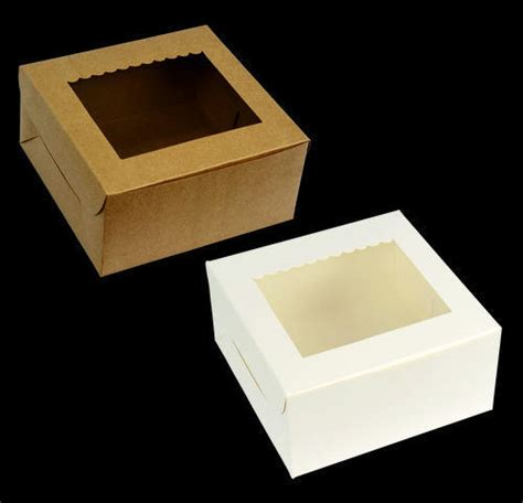 cake boxes with window cake boxes white brown cake box with window