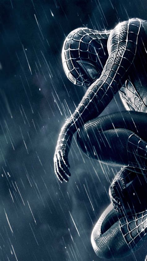 wallpaper android venom spiderman 3 black and blue android wallpaper free download