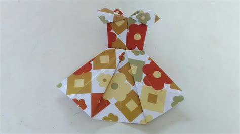 cara membuat origami baju pesta cara membuat origami baju pesta by ria nofaliana youtube