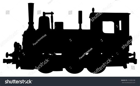 steam locomotive silhouette stock vector 219200188