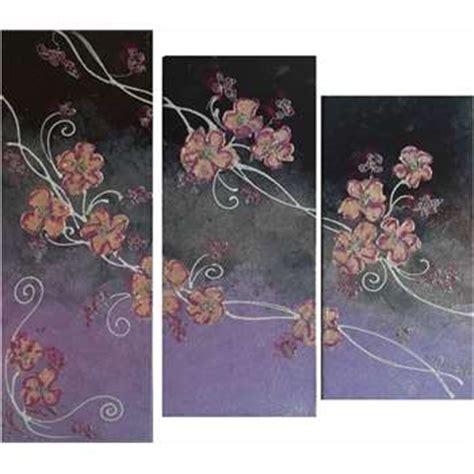 tele per da letto trittico fiori giapponesi vendita quadri quadri