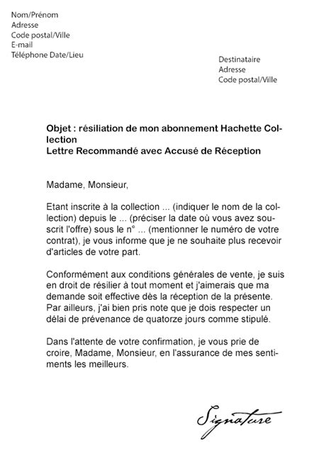 Lettre De Resiliation Keepcool Modele Lettre Resiliation Keep Cool